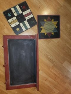 Chalkboard with decorative peg boards