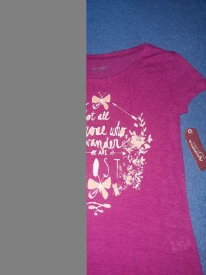 "NEW WITH TAGS, Arizona brand size 14 girls ""not all who wonder are lost"" theme was bought in Jcpenney SERIOUS BUYERS ONLY"