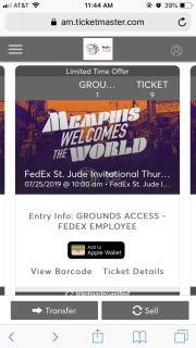 4 Day Pass to FedEx St Just Classic