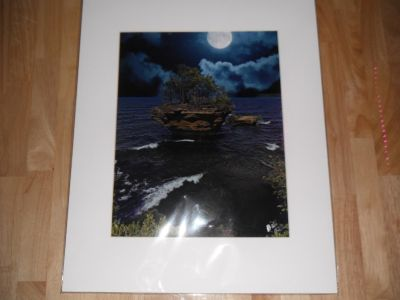 Turnip Rock By Night, Signed/Matted, Bill Diller Photography