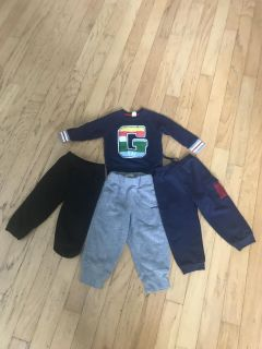 GAP top & 3 pairs of athletic pants -size 18-24 months