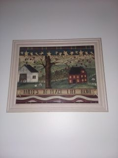 15 12 wood frame picture like new excellent condition
