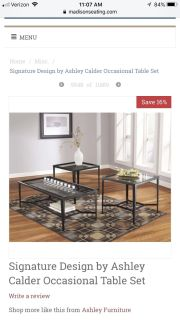 3 piece end/coffee table set