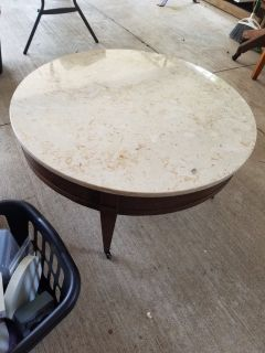 Real marble top antique table