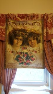 Absolutely beautiful canvas with grommets at each corner great for sisters sharing g a room