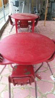 2 table and chairs