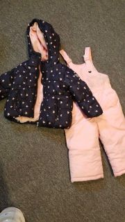 Girls jacket and snow pants size 18 months