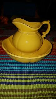 McCoy pitcher and bowl. Marked McCoy 7528 USA on bottom of each
