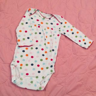 Child of mine 3-6 month polka dotted long sleeve onesie. EUC