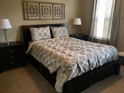 Queen Size Bedding & Curtain panels