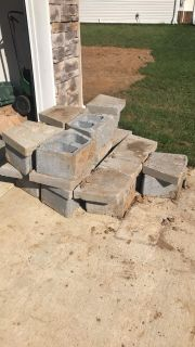 Retaining wall blocks and top caps