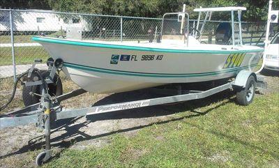 1996 Key Largo 16' Center Console Boat, 48hp Motor w/ Trailer