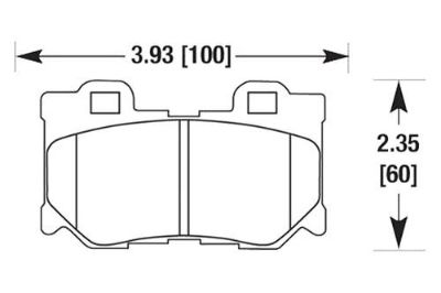 Sell HAWK HB602F.545 - 10-12 Infiniti FX50 Black Ferro-Carbon Rear Brake Pads motorcycle in Chino, California, US, for US $90.38