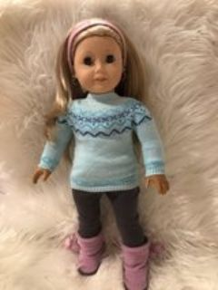 American Girl Doll Winter Sweater Outfit
