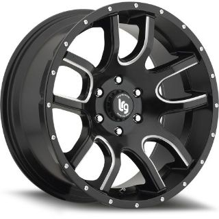 Buy 20x9 Black Milled LRG 108 6x5.5 +0 Wheels Nitto Exo Grappler 305/55/20 Tires motorcycle in Saint Charles, Illinois, United States, for US $2,292.15