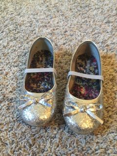 Size 11 silver flats