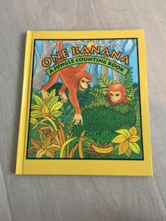 Hardback One Banana A Jungle Counting Book- New