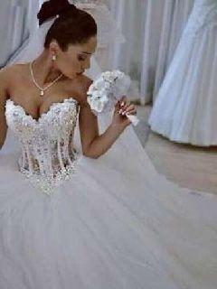 Beaded Corset Gown