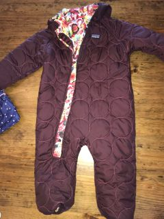 18-24 month Excellent Patagonia reversible Snow suit
