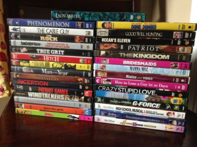 DVDs EUC - Disney, Action, Romantic Comedies - 2$ each or any 4 movies for 5$