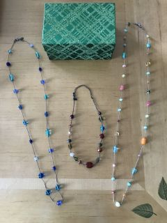 Three Lia Sophia necklaces
