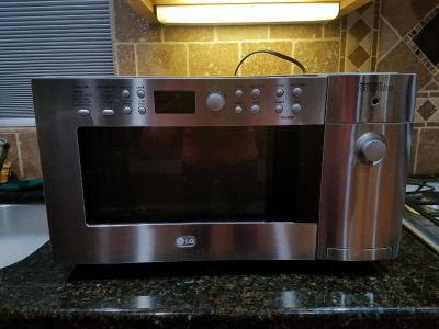 LG microwave/toaster combo