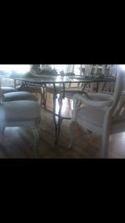 Large Glass Table & 8 chairs