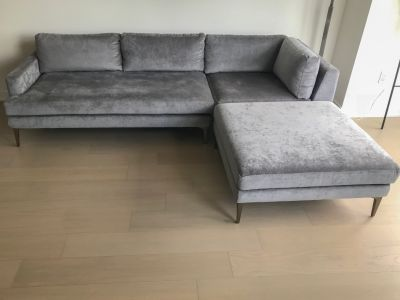 West Elm Andes 3-Piece Chaise Sectional Sofa