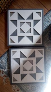 Set of wooden pictures.