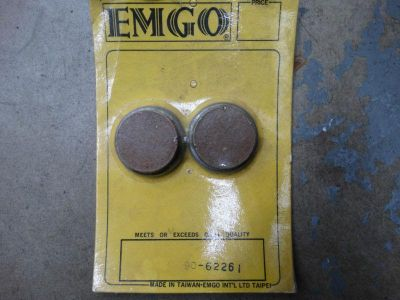 Find EMGO SINTERED REAR BRAKE PADS FOR YAMAHA TRI MOTO, YTM, YFM 90-62261 motorcycle in Pittsfield, Massachusetts, US, for US $25.00