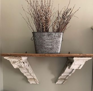 Reclaimed Wood Antique Corbel Shelves