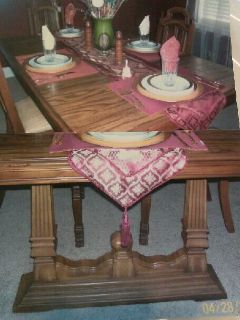 $350, Formal Dining Room Table, Chairs  Cabinet