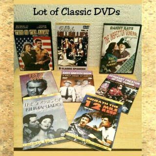 LOT OF 8 CLASSIC DVDs