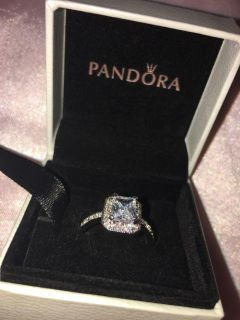 Pandora ring. Brand new! Never worn. 18K White gold filled. SIZE 7