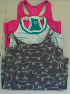 3--XS work out shirts with attached sports bra
