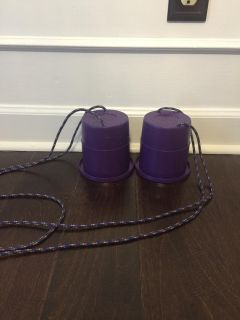 Walking Cups w/Rope Stilts Kids Gifts $4 Gtown PPU I have 2 sets