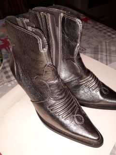 Antique silver Ladies ankle booties