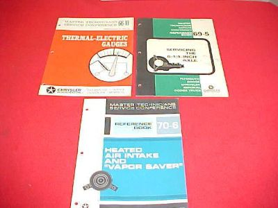 Find 1966 1969 1970 CHRYSLER PLYMOUTH DODGE SERVICE SHOP MANUAL 66 69 70 LOT OF 3 motorcycle in Leo, Indiana, US, for US $14.99
