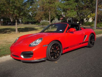 2011 Porsche Boxster Spyder Rare 6 Speed Guard Red 2 Owners