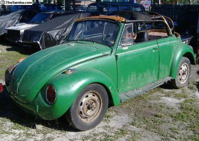 1971 Super Beetle Conv. - Parts Only