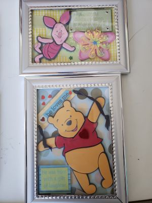 Winnie the Pooh and Piglet picture frames