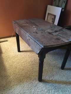 Antique Sewing Table w/drop leaf