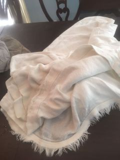 Queen size ivory blanket