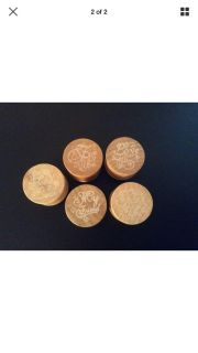Wood Rubber Stampers Lot Of 5