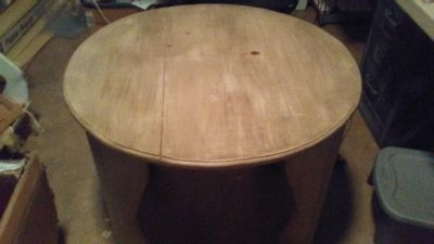 Solid wood distressed table