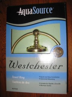 NEW AquaSource Towel Ring