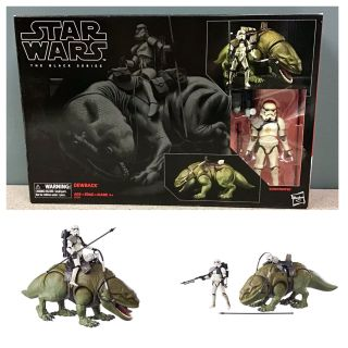 Star Wars The Black Series Dewback and Sandtrooper