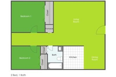 $550 / 2 bedrooms - Great Deal. MUST SEE!