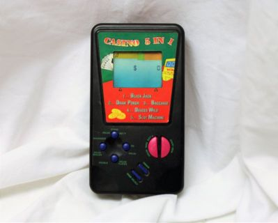 Vintage 5 in 1 Slot Handheld Casino Video Game Electronic Play #1370 Ace King