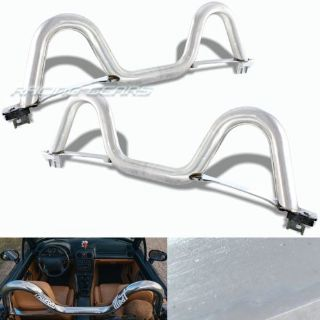 "Find For 90-05 Mazda Miata MX5 JDM Chrome 2.5"" T-304 Stainless Steel Support Roll Bar motorcycle in Walnut, California, United States"